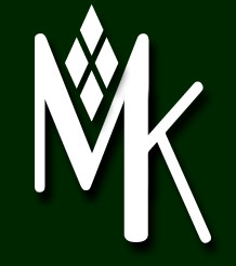mk logo white on black