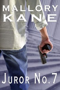 Man in a white shirt holding a gun, stands on courthouse steps
